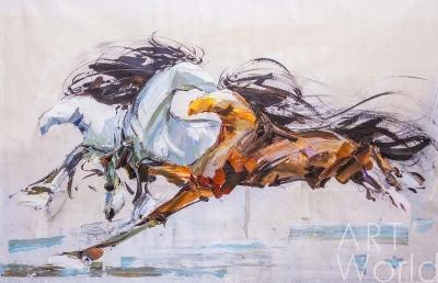 """картина масло холст Картина маслом """"Лошади N1"""", Родригес Хосе, LegacyArt"""