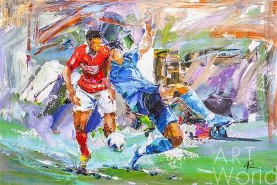 """картина масло холст Картина маслом """"Футбол. Гол!"""", Родригес Хосе, LegacyArt"""
