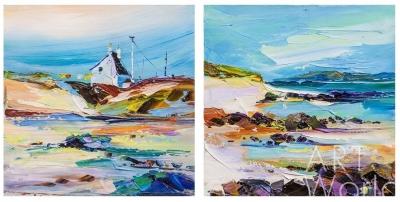"""картина масло холст Картина маслом """"Сны Средиземноморья. Диптих N7"""", Родригес Хосе, LegacyArt"""