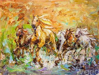 """Картина маслом """"Табун лошадей"""""""