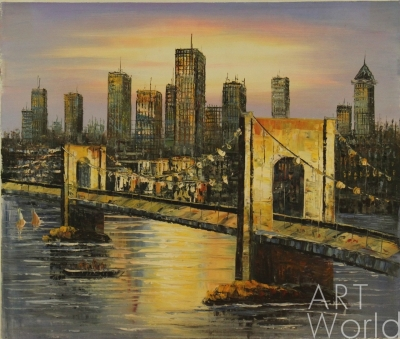 Картина с мостом - прекрасный подарок