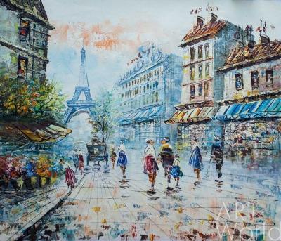 """картина масло холст Пейзаж маслом """"Париж. Прогулки по городу N8"""", Картины в интерьер, LegacyArt"""