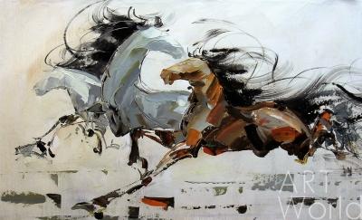 """картина масло холст Картина маслом """"Лошади N1"""", Хосе Родригес, LegacyArt"""