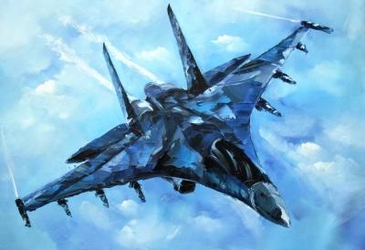 Су-35 (холст, масло)