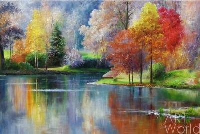 "картина масло холст Картина маслом ""Осень-волшебница"", Александр Ромм, LegacyArt"
