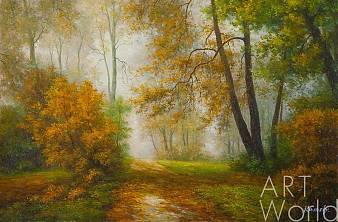 """картина масло холст Пейзаж маслом """"Осень"""", Савелий Камский, LegacyArt"""