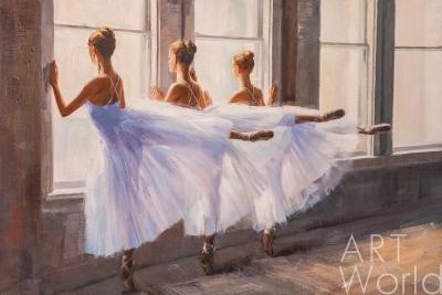 """картина масло холст Картина маслом """"Балерины в танцевальном классе"""", Камский Савелий, LegacyArt"""