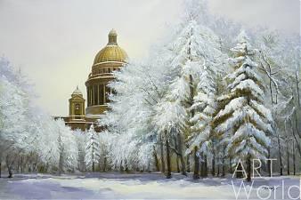 """Картина маслом """"Исаакиевский собор. Зимнее кружево"""""""