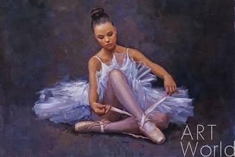"картина масло холст Картина маслом ""Маленькая балерина"", Савелий Камский, LegacyArt"