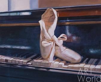 """Картина маслом """"Вдохновение балетом"""""""