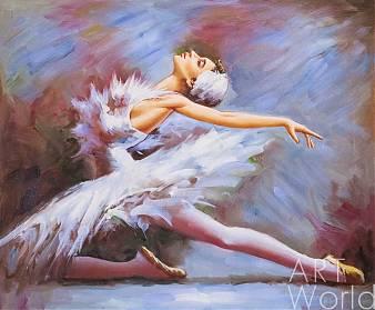 """Картина маслом """"Балерина"""", вольная копия картины Стефана Пена (Stephen Pan)"""
