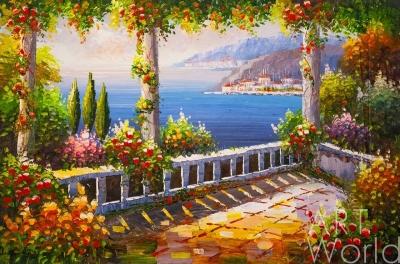 """картина масло холст Пейзаж маслом """"Средиземноморское настроение N32"""", Картины в интерьер, LegacyArt"""