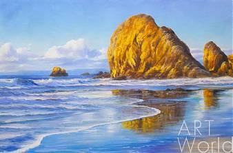 картина масло холст Картина маслом «Море. Волны. Отражения», Дарья Лагно, LegacyArt