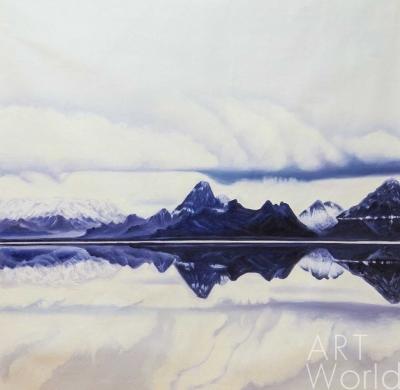 """картина масло холст Картина маслом """"Горы, облака и отражения"""", Лия Гомеш, LegacyArt"""