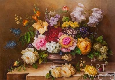 """картина масло холст Натюрморт маслом """"Изысканный натюрморт в стиле барокко"""", Потапова Мария , LegacyArt"""
