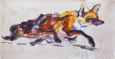 """картина масло холст Картина маслом """"Лисица"""", Хосе Родригес, LegacyArt"""