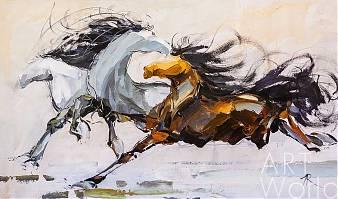 """Картина маслом """"Лошади N1"""""""