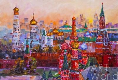 """картина масло холст Картина маслом """"Москва златоглавая. Версия JR"""", Хосе Родригес, LegacyArt"""