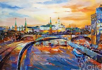 """Картина маслом """"По Москве-реке проплывали корабли…"""""""