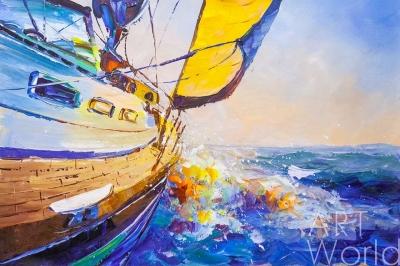 """картина масло холст Картина маслом  """"Регата. На всех парусах"""", Хосе Родригес, LegacyArt"""