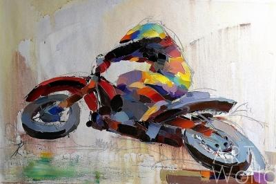 """картина масло холст Картина маслом """"И снова гонки N6"""" (Серия """"Мотоциклы""""), Хосе Родригес, LegacyArt"""