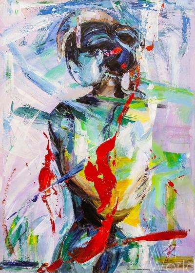 """картина масло холст Картина маслом """"В поисках красоты. Версия NU"""" N5, Родригес Хосе, LegacyArt"""