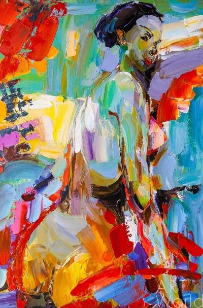 """картина масло холст Картина маслом """"В поисках красоты. Версия NU"""" N7, Родригес Хосе, LegacyArt"""