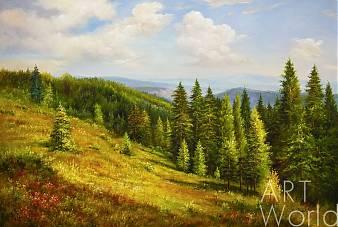 """Пейзаж маслом """"За долами, за горами…"""""""