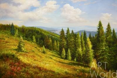 "картина масло холст Пейзаж маслом ""За долами, за горами…"", Ромм Александр, LegacyArt"