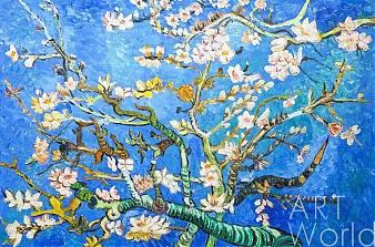 "Копия картины Ван Гога ""Branches with Almond Blossom, 1885 (Цветущие ветки миндаля)"", копия Анджея Влодарчика"