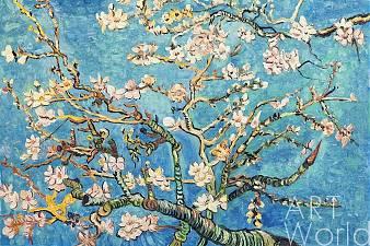 "картина масло холст Копия картины Ван Гога ""Branches with Almond Blossom, 1885 (Цветущие ветки миндаля)"", копия Анджея Влодарчика, Ван Гог (Vincent van Gogh)"