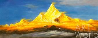 """картина масло холст Картина маслом """"Горный пейзаж. На вершине мира"""", Кристина Виверс, LegacyArt"""
