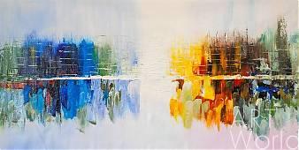 """картина масло холст Картина маслом  """"Город у воды. Зеркальная гладь"""", Кристина Виверс, LegacyArt"""
