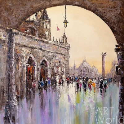 """картина масло холст Картина маслом """"Венеция. Мгновение путешествия N2"""", Кристина Виверс, LegacyArt"""